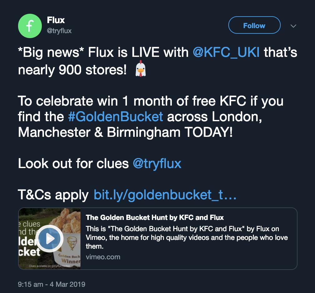 Capture d'écran Flux KFC