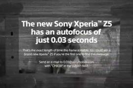 Xperia Z5 message secret publicite.