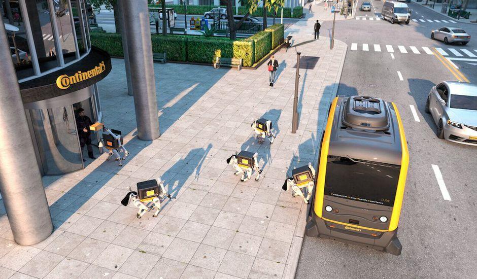Continental développé des chiens robots pour vous livrer en produits du quotidien