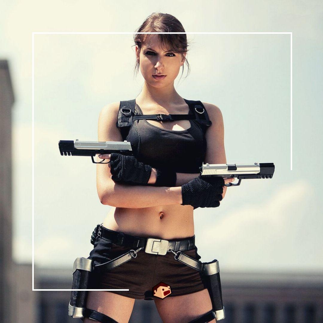 lara croft cosplay noir