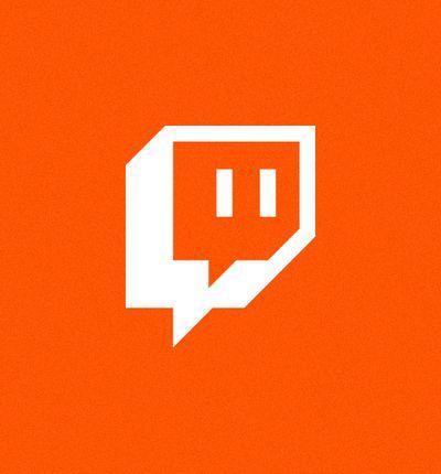 Soundcloud : le logo de Twitch sur fond orange.
