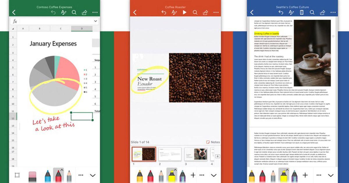 Microsoft : les applications Word, Excel et PowerPoint font peau neuve sur iOS et iPadOS