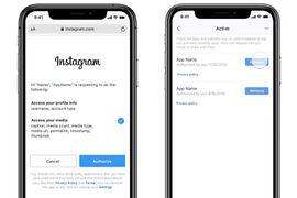 Instagram nous permet de contrôler le partage de nos données personnelles.