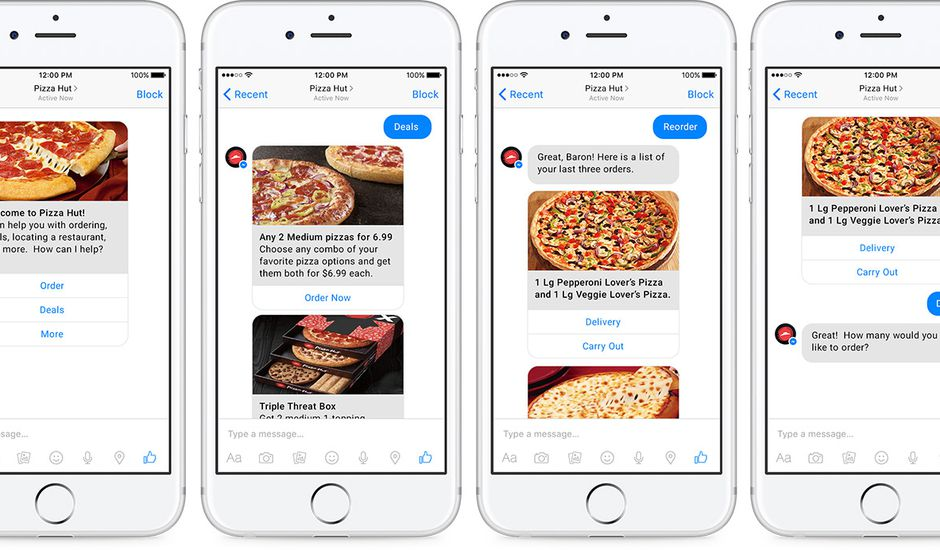 chatbot pizza hut