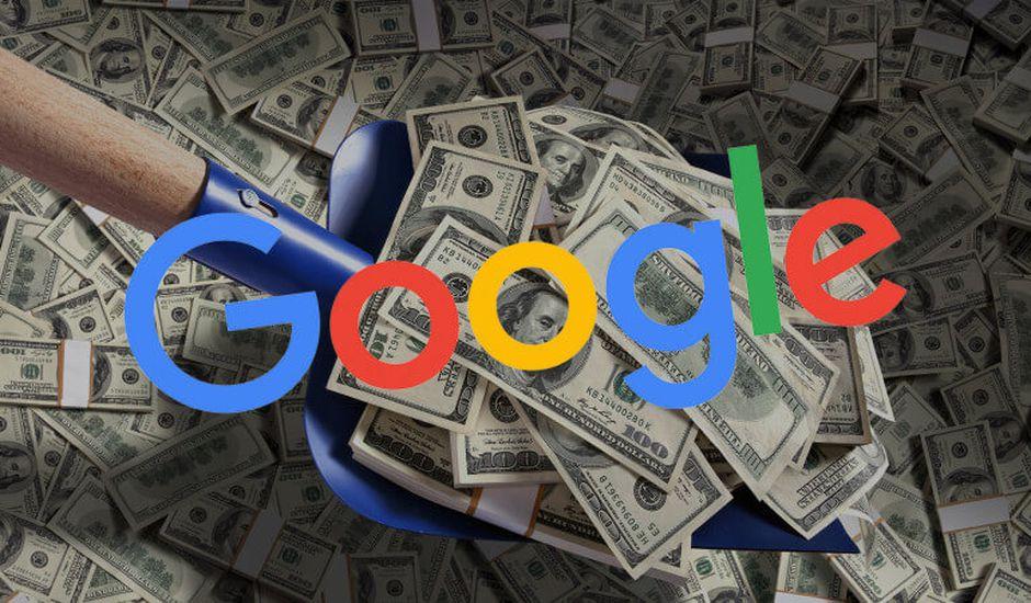 logo google sur de l'argent