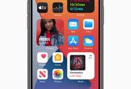 écran d'un iphone iOS 14 avec des applications et Widget