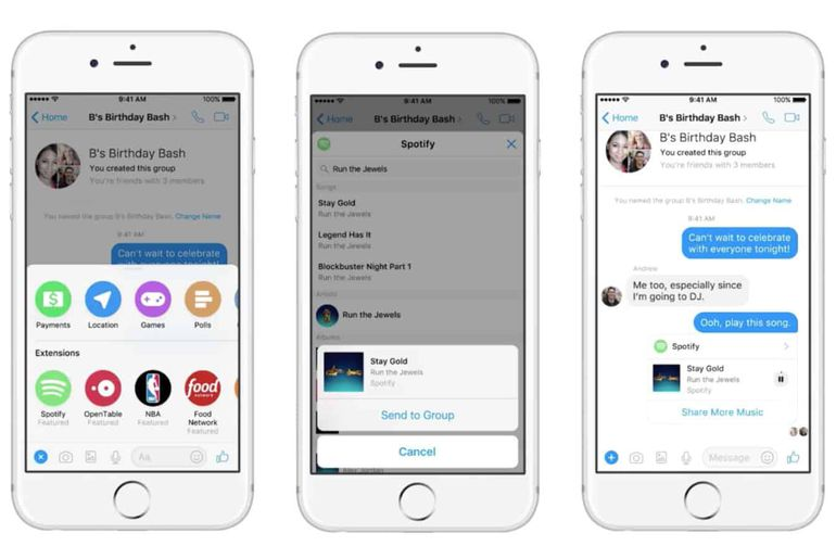 Facebook Messenger Chat Extensions