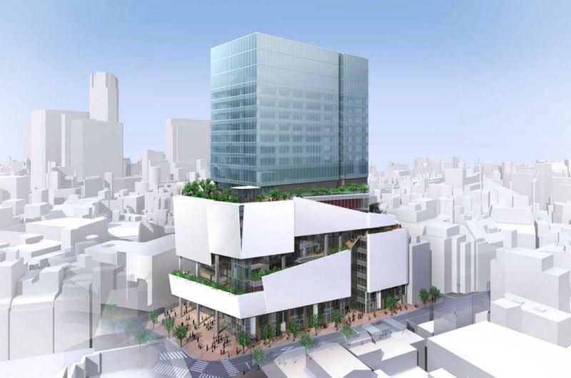 Installation du nouveau centre commercial à Tokyo