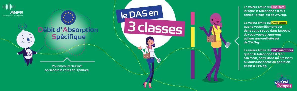 """Illustration qui explique le """"DAS tête"""", le """"DAS tronc"""" et le """"DAS membres"""""""