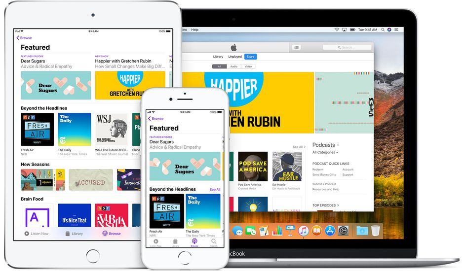 Apple Podcasts s'éloigne d'iTunes