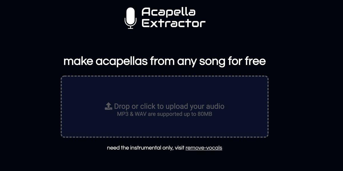 Cet outil gratuit permet d'isoler la voix d'une personne sur n'importe quel titre