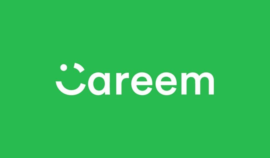 Le logo Careem sur un fond vert.