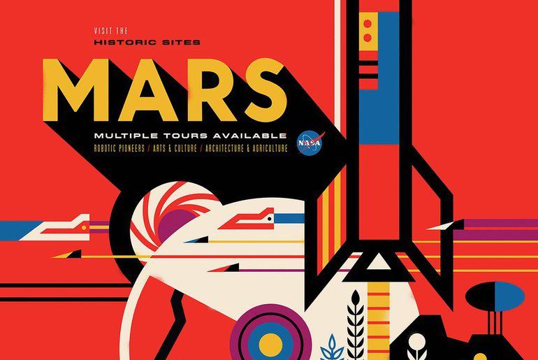 Affiche Nasa Mars