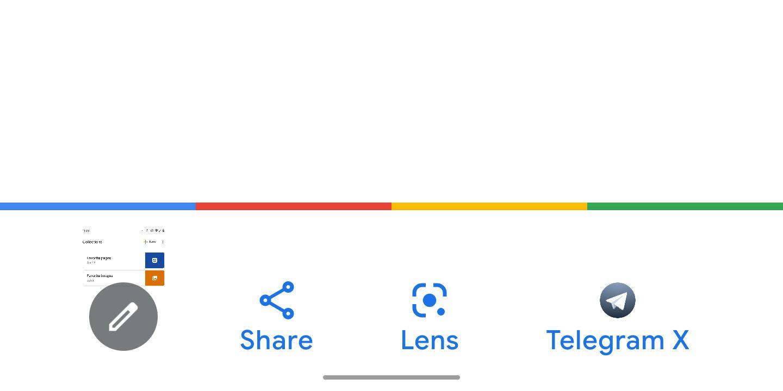 Google veut nous laisser effectuer une recherche à partir d'une capture d'écran