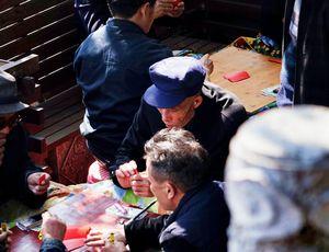 aperçu de membres de la communauté Ouïgour.