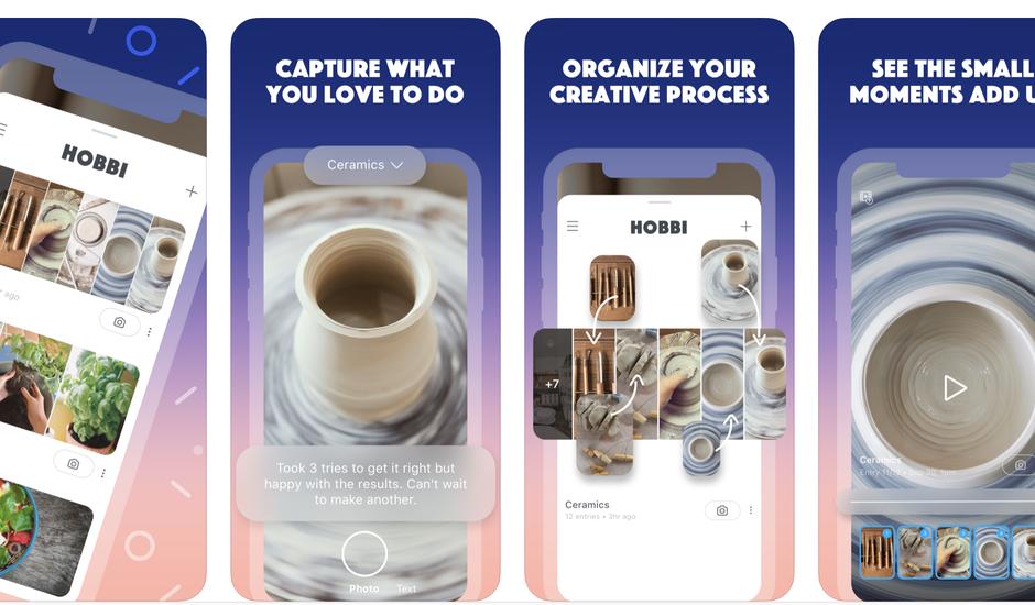Capture d'écran de la présentation de Hobbi sur iOS