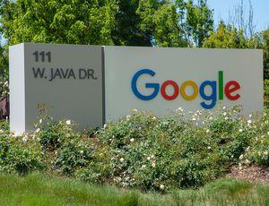 L'entrée des bureaux de Google a Sunnyvale en Californie