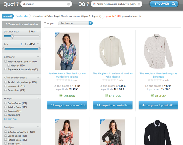 web-to-store : le product locator