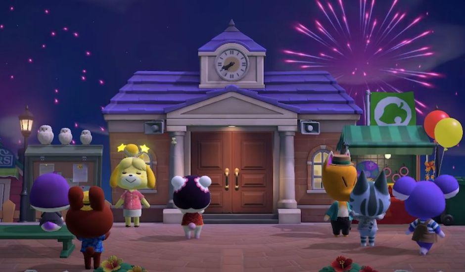 Les habitants d'Animal Crossing : New Horizons profitent des feux d'artifice