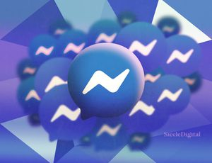 Illustration du logo de Messenger