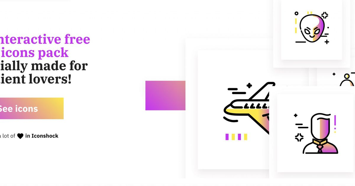 Gradientify : 500 icônes SVG personnalisables avec des dégradés de couleurs