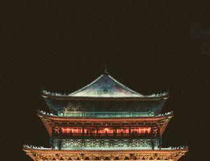 Un vieux temple à Xi'an en Chine