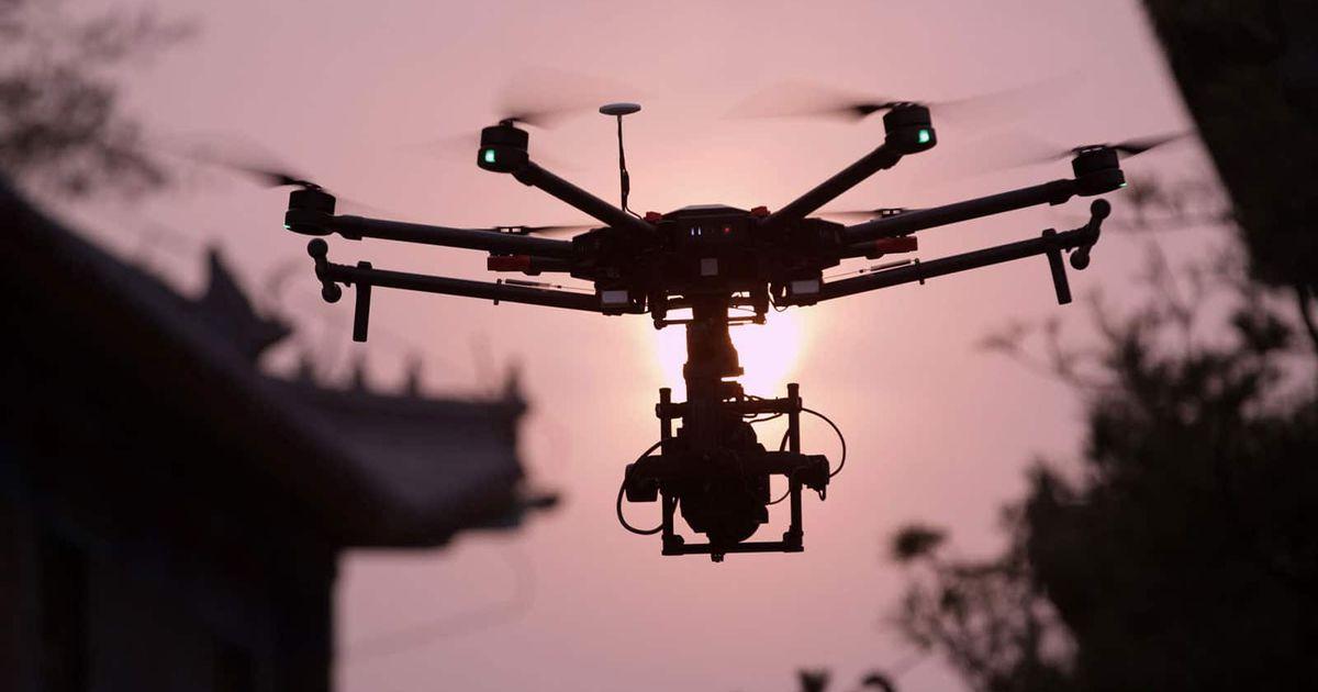 Drone en plein vol