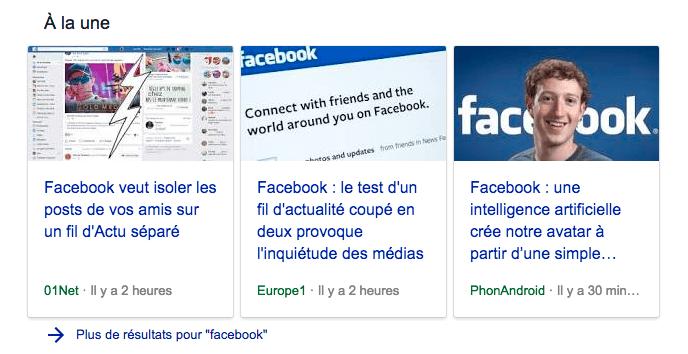 facebook test la séparation du fil d'actualités des pages
