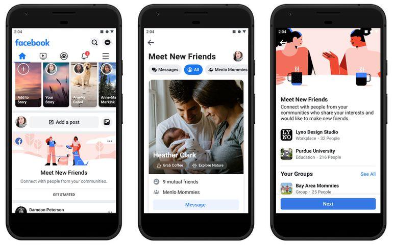 Version mobile de la nouvelle version de Facebook baptisée FB5