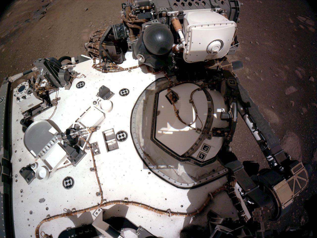 Le rover Perseverance sur Mars.