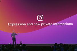 Mark Zuckerberg sur scène pendant le F8 pour parler vie privée sur Instagram