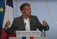 Emmanuel Macron lors de son discours devant des entreprises françaises numérique
