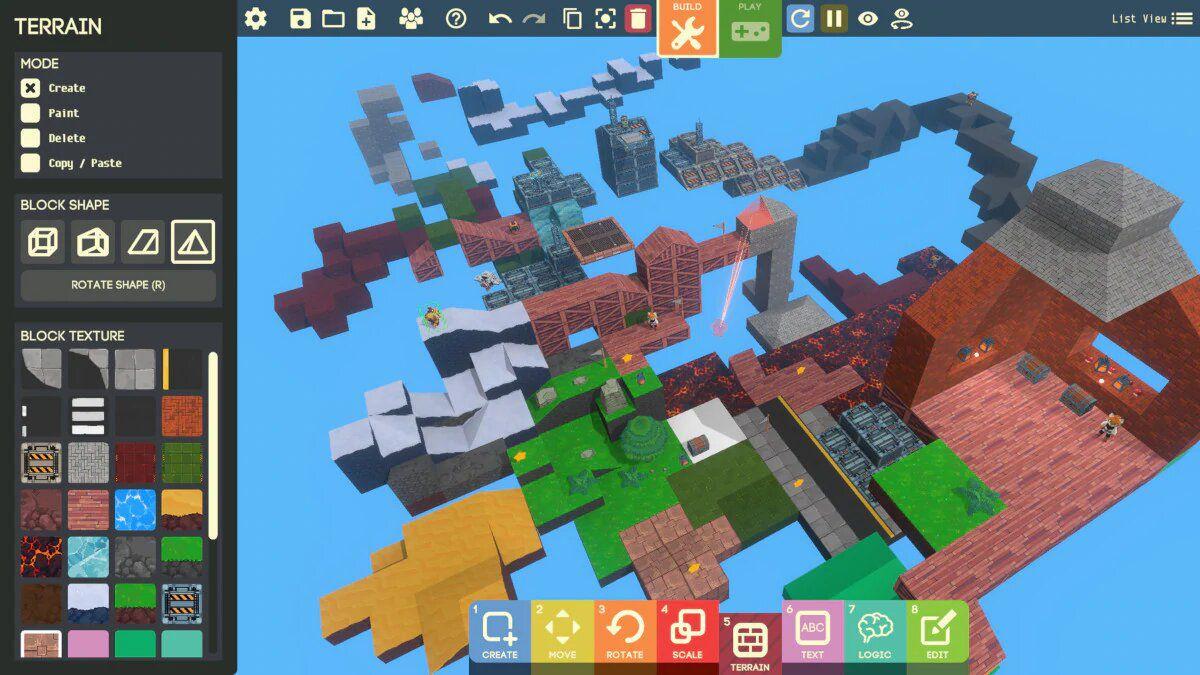 Un système pour créer des jeux vidéo, appelé Game Builder