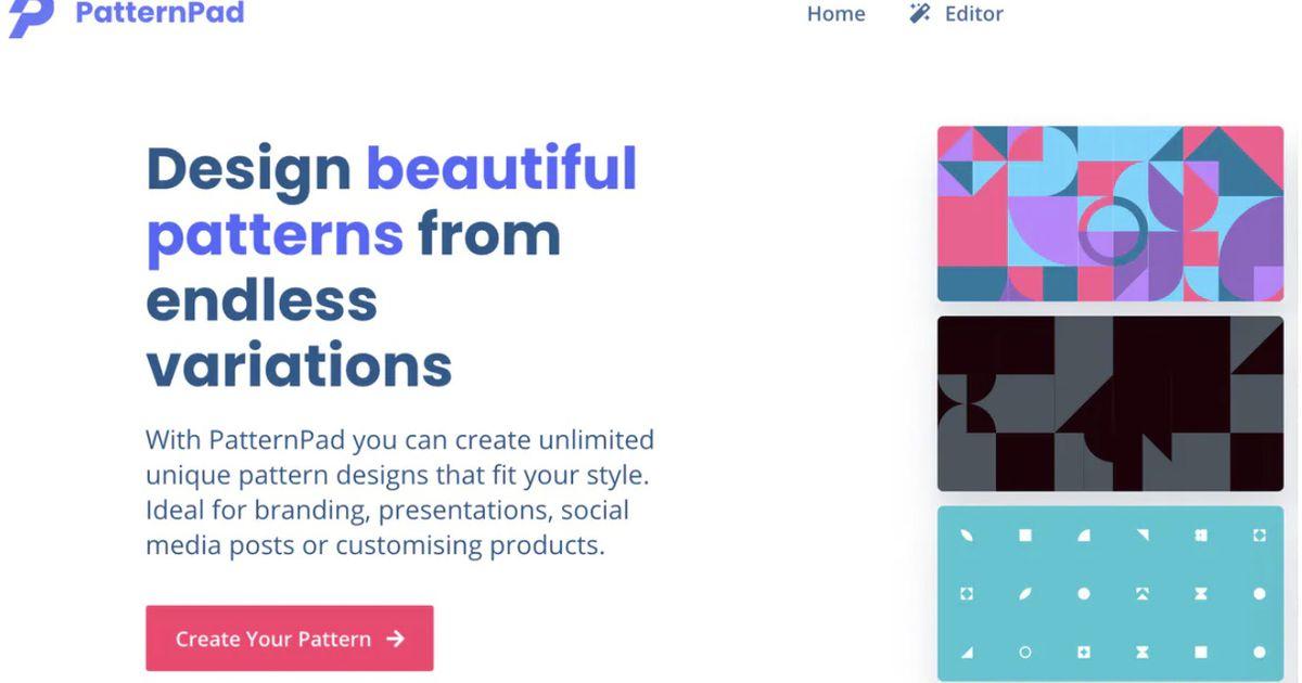 PatternPad : un outil pour créer des fonds uniques à partir de formes géométriques