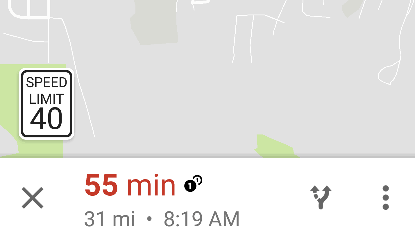 google maps limitation vitesse