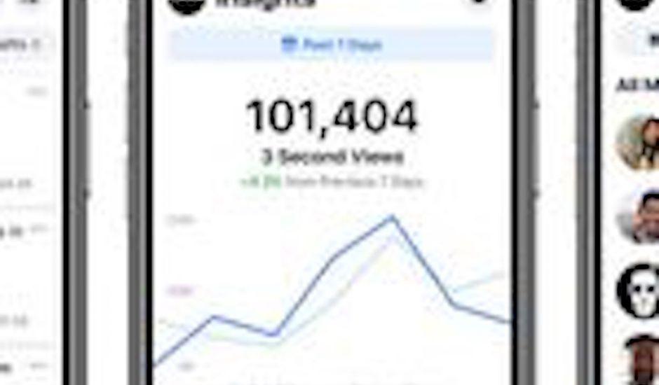 Facebook : des captures d'écran de l'application mobile Creator Studio