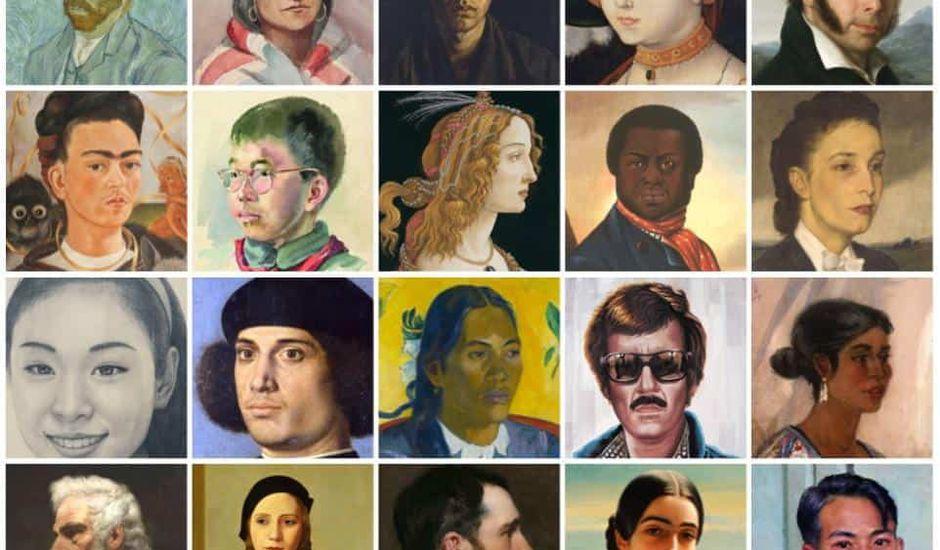 Google Art Selfie tableau