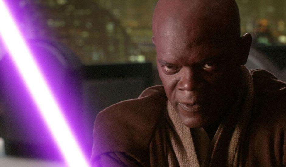 mace windu sabre laser violet george lucas star wars