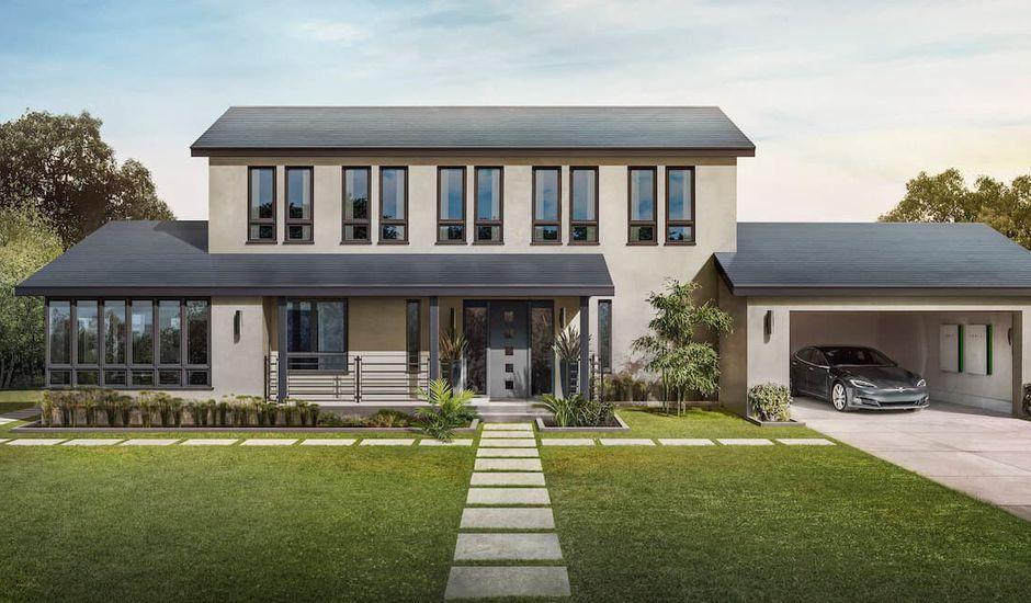 Tesla Solar Roof électrique