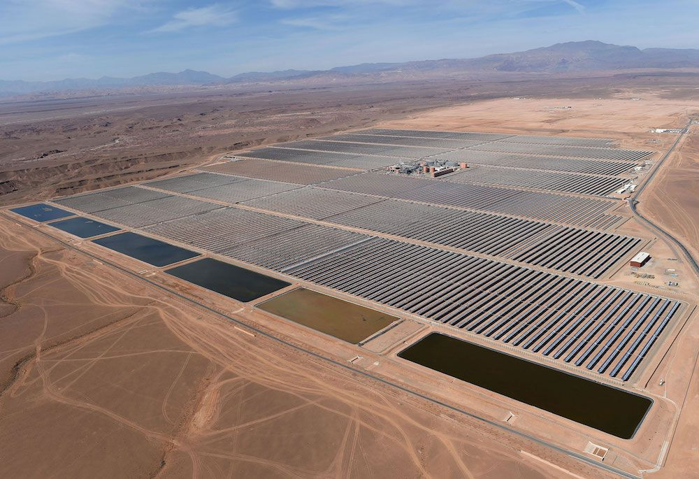 Centrale solaire Noor 1 Maroc