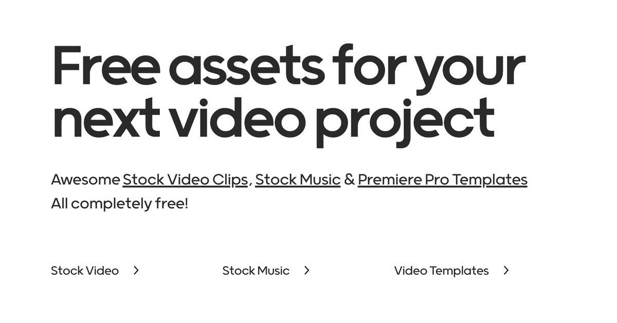 Mixkit : une bibliothèque unique et gratuite de vidéos HD, de templates vidéo et de musiques !