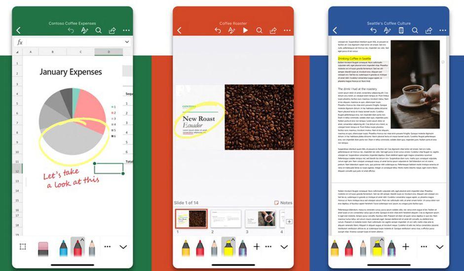 Microsoft : les nouvelles interfaces des applications Excel, PowerPoint et Word sur iOS
