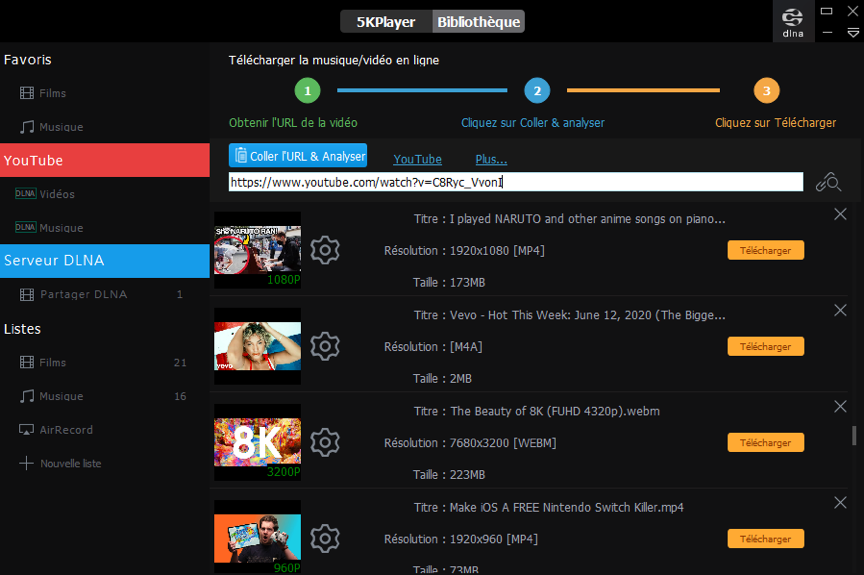 screenshot convertisseur video lp3