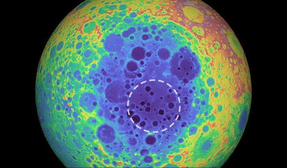 Un cratère géant découvert sur la Lune.