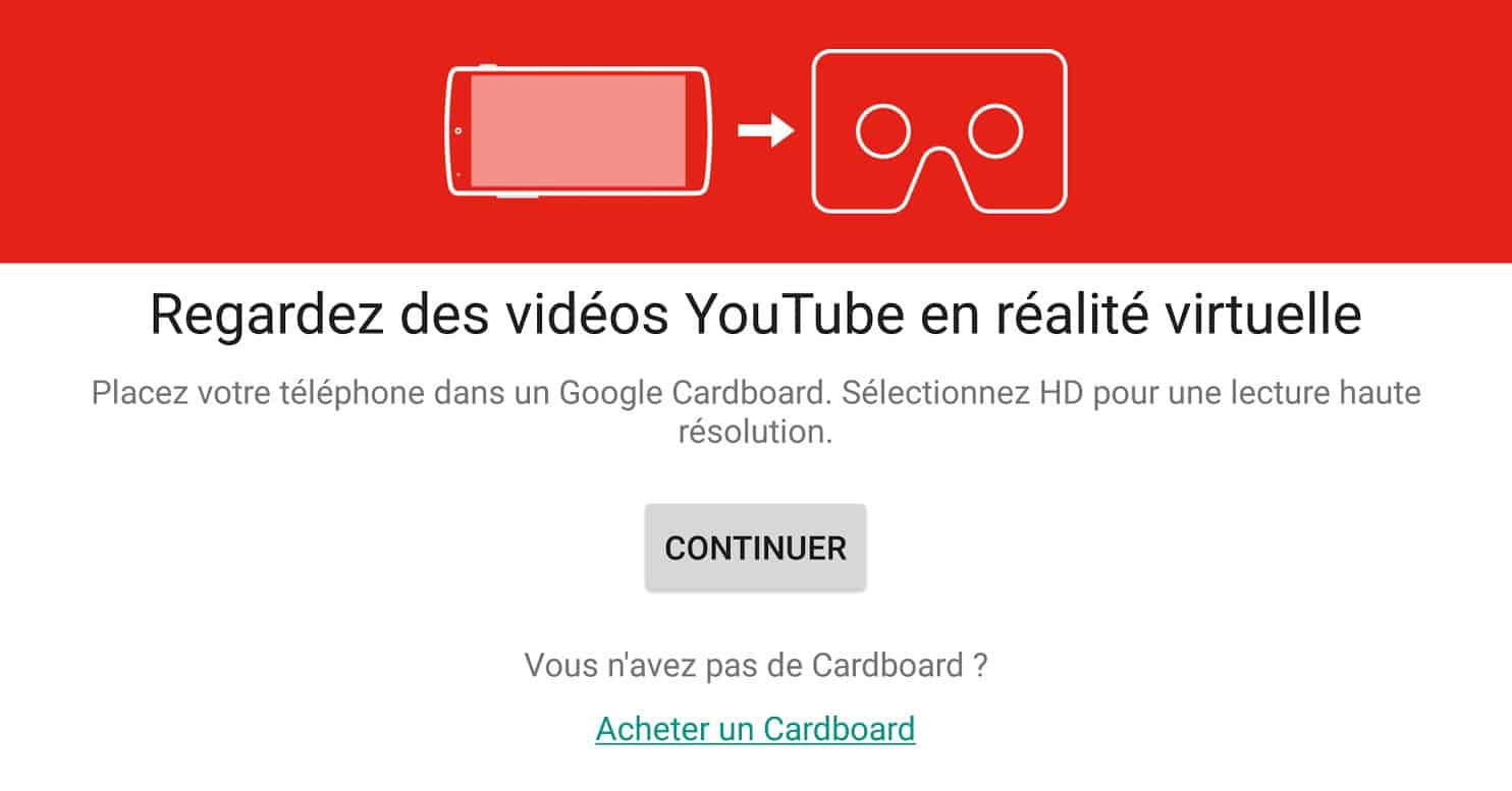VR sur Youtube