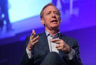 Le président de Microsoft, Brad Smith, lors d'une convention.