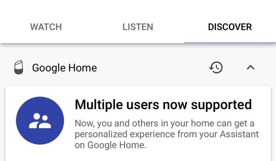 google home multi users
