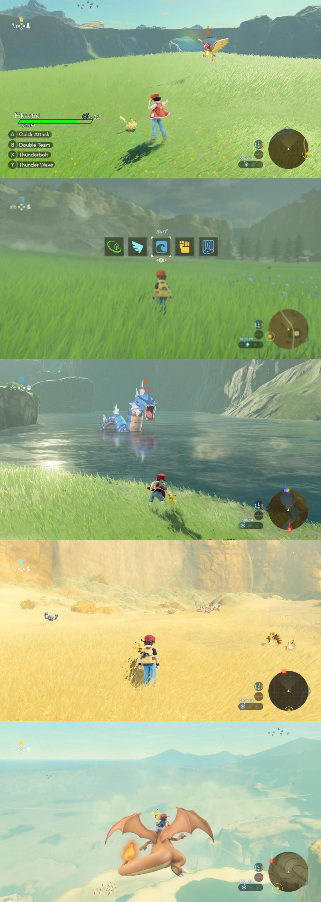 Pokémon Épée et Bouclier revisité dans le style de Breath of The Wild
