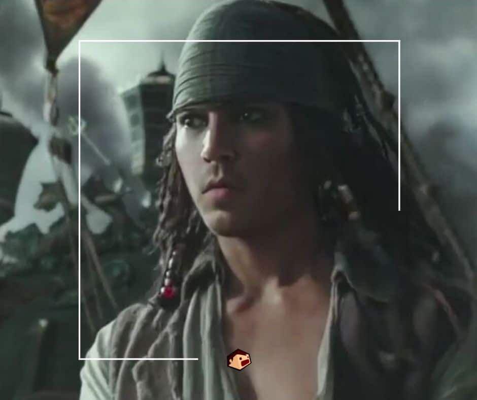 jack sparrow jeune dans pirates des caraïbes de disney