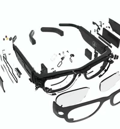 Schéma des lunettes intelligentes créées par Facebook et Ray-Ban.